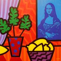 Still Life With Matisse and Mona Lisa