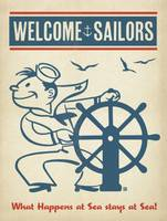 Welcome Sailors Retro Poster