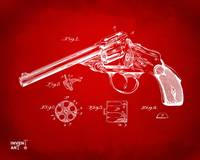 Wesson 1889 Revolver Patent Minimal Red