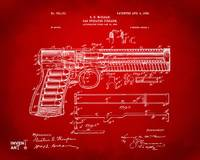 1903 Mcclean Pistol Patent Red