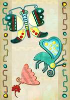 Zuni Butterfly 2 Folk Art
