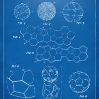 Soccer Ball Construction Patent Artwork Blueprint Art Prints & Posters by Nikki Smith