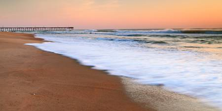 Morning Surf on the beach in Nags Head NC
