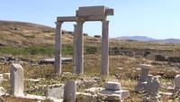 Temple Landscape in Delos, Greece
