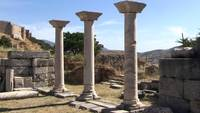 Three Columns in Delos, Greece