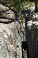 The rock between the fissure at Taft Point