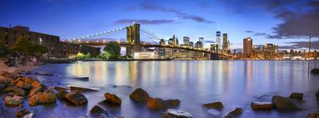 Manhattan & Brooklyn Bridge Panoramic photo