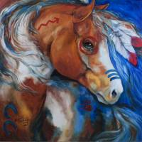 BRAVEHEART INDIAN WAR HORSE by Marcia Baldwin