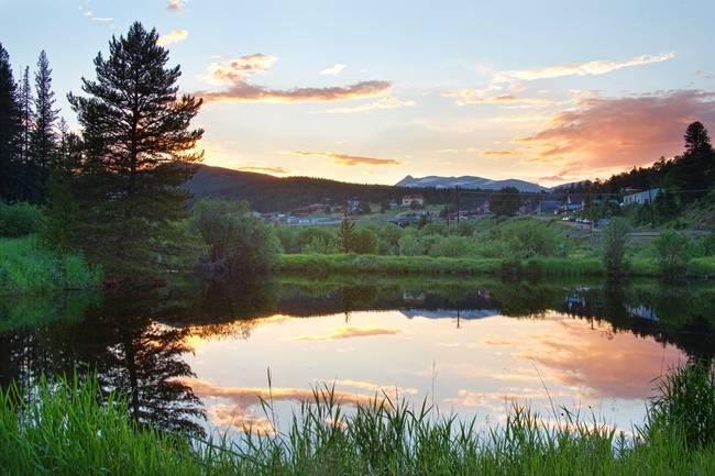 Rollinsville Colorado Sunset