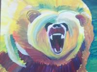 Bear Acrylic Painting