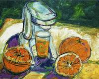 Orange Juice Oil Painting