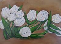 Swaying White Tulips