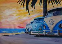 The VW Volkswagen Bully Series - The Blue Surf Bus