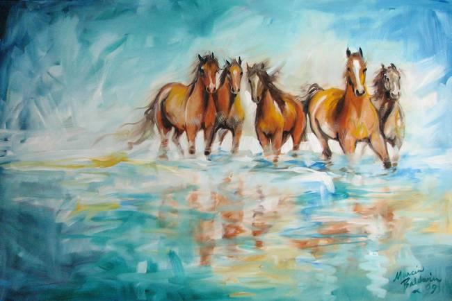 OCEAN BREEZE WILD HORSES
