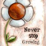 Never Stop Growing Prints & Posters