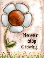 Never Stop Growing