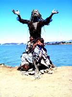 driftwood and scrap metal goddess