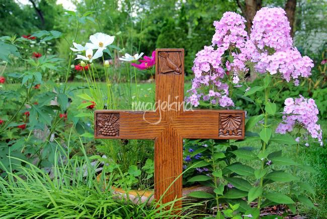 Cross in Garden by George Wood