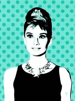Audrey Hepburn - Tiffany Too - Pop Art by William Cuccio