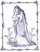 Mother and Child 1894 Drawing