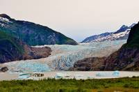 MENDENHALL GLACIER AND ICEBERGS
