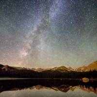"""Milky Way Over The Colorado Indian Peaks"" by lightningman"