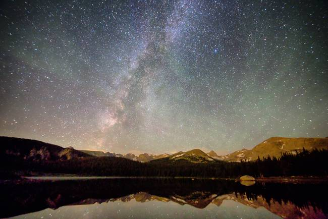 Milky Way Over The Colorado Indian Peaks