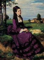 Portrait of a Woman in Lilac, 1874 (oil on canvas)