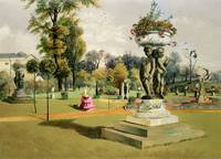 The Terrace Garden, Woburn Abbey (chromolitho)