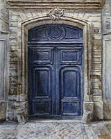 Blue Parisian Door No.5-2