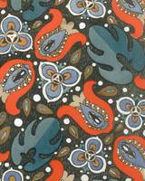 Wallpaper design, c.1908 (pochoir print) - detail