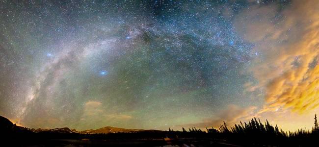 Colorado Indian Peaks Wilderness Milky Way Panoram