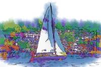 The Purple Sailboat by Kirt Tisdale