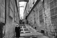 Nun's Ascent - a street in Old Town Jerusalem, Isr