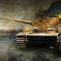 tiger tank faces T-34, eastern front by r christopher vest