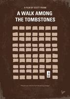 No341 My WALK AMONG THE TOMBSTONES minimal movie p