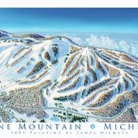"""Boyne Mountain Michigan"" by jamesniehuesmaps"