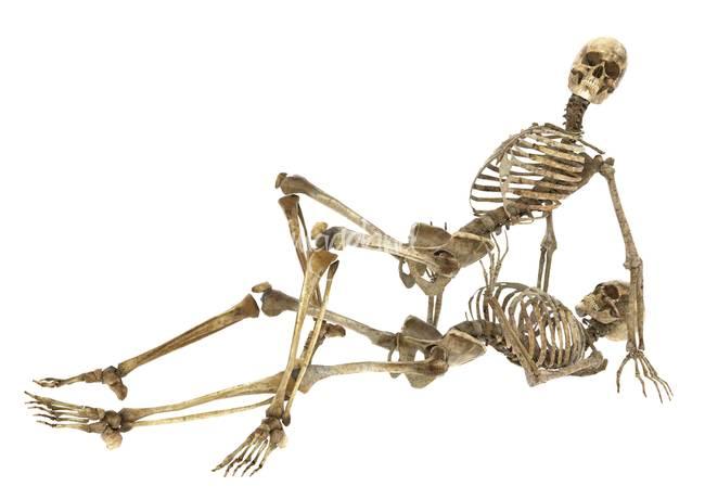 Русское мужик трахает скелета