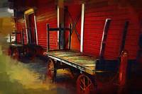 Old Train Station Carts by Kirt Tisdale
