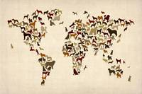 Dogs Map of the World Map