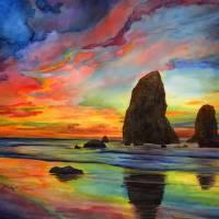 """Colorful Solitude"" by HaileyWatermedia"