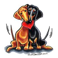 """Dachshunds Have Heart"" by OffLeashArt"