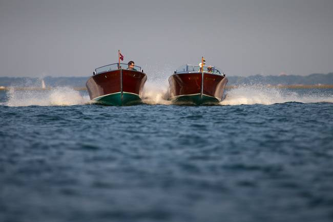 Wood Boats-Close Formation