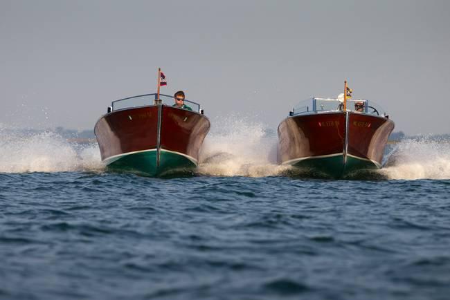 Racing Wooden Speedboats