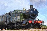 Hercules,  Old Steam Engine, GWR