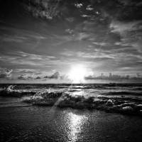 Good Morning SOBE  BW Art Prints & Posters by John Miller