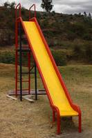 Painted Slide in a Playground