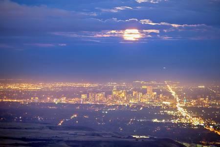 Cloudy Hazy Denver Colorado September Super Moon