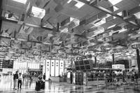 Changi Airport Singapore, monochrome