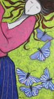 A GIRL AND BUTTERFLIES I